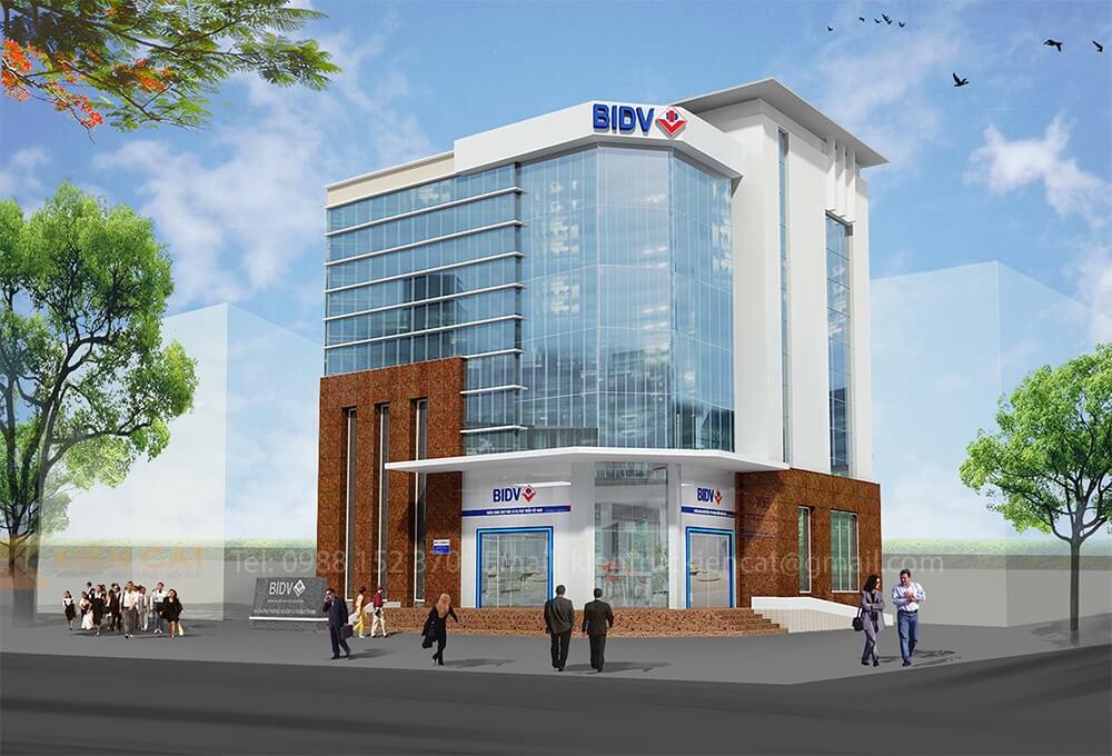 Thiết kế ngân hàng BIDV trụ sở tại Gia Lai