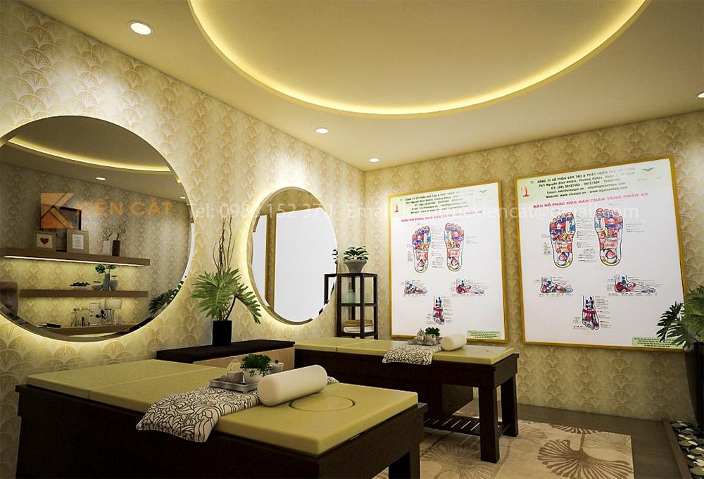 thiết kế phòng massage vip 1
