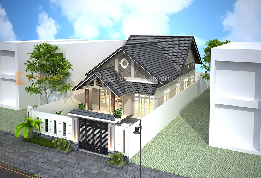 thiết kế nhà cấp 4 sân vườn