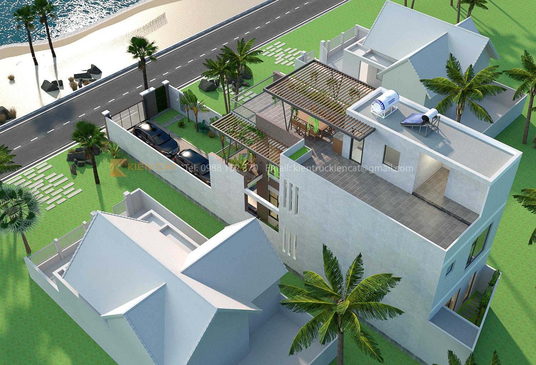 thiết kế biệt thự nghỉ dưỡng ven biển