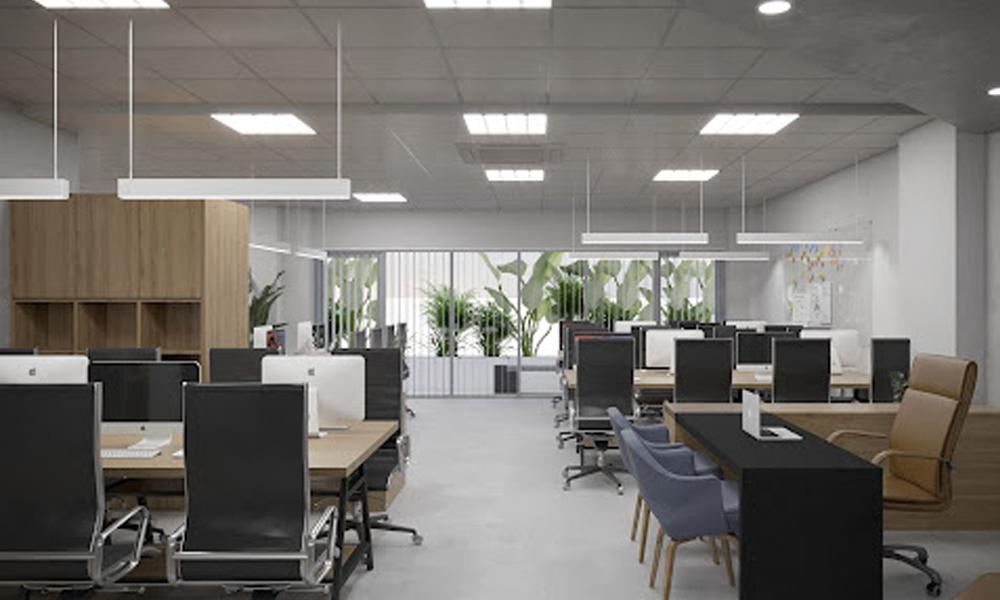 Thiết kế văn phòng công ty hiện đại với diện tích 100m2